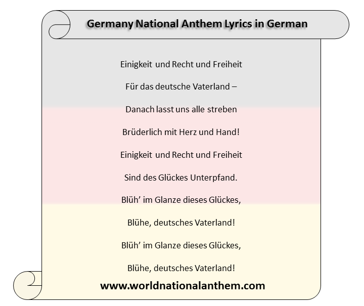 Germany National Anthem Lyrics in German