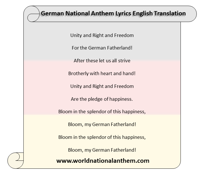 German National Anthem Lyrics English Translation