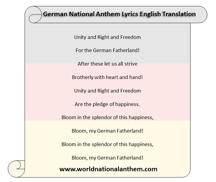 german national anthem lyrics english translation